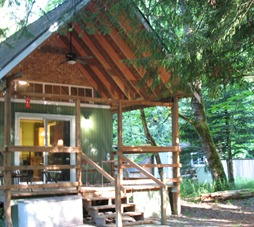 Cabin Front in Spring